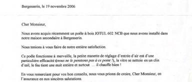 Bergesserin, le 19 novembre 2006 2